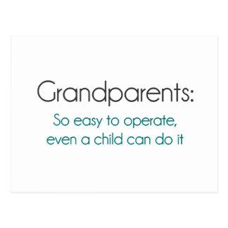 Großeltern so einfach zu benützen postkarten