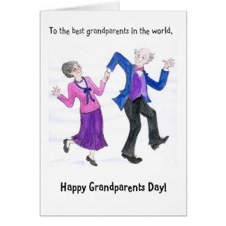 Großeltern-Tagesgruß-Karte Karte