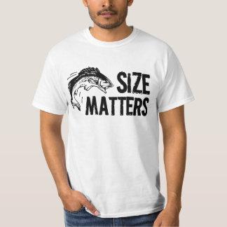 Größen-Angelegenheiten! Lustiger Fischen-Entwurf T-Shirt