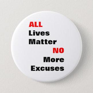 """Großer """"alle Leben-Angelegenheits-"""" weißer Knopf Runder Button 7,6 Cm"""