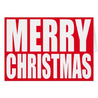 Großer Block-weiße frohe Weihnachten Grußkarte