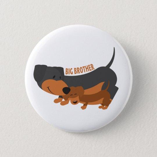 Großer Bruder (Hunde) Runder Button 5,7 Cm