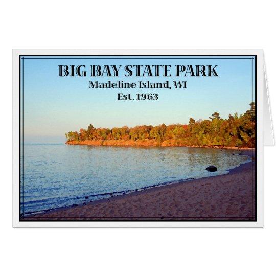 Großer Bucht-Staats-Park - besonders angefertigt Mitteilungskarte