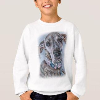Großer Däne-Hund, der Entwurf zeichnet Sweatshirt