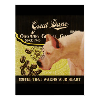 Großer Däne-Marke - Organic Coffee Company Postkarten