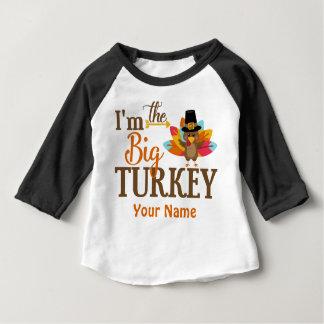 Großer die Türkei-Erntedank-personalisierter T - Baby T-shirt
