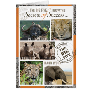 Großer Erfolg fünf Grußkarte