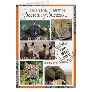 Großer Erfolg fünf Karte