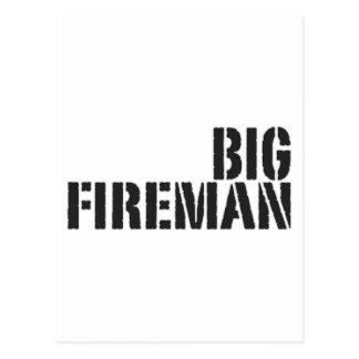 Großer Feuerwehrmann Postkarte