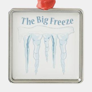 Großer Frost Silbernes Ornament