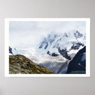 Großer Gletscher in den Schweizer Alpen Poster