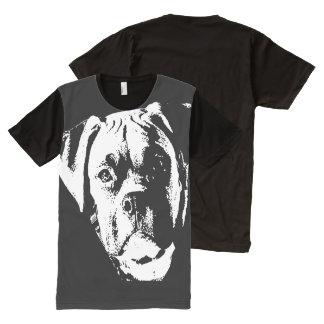 Großer, großer Hund T-Shirt Mit Komplett Bedruckbarer Vorderseite