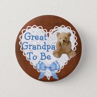 Großer Großvater, zum Babyparty-Knopf Browns zu Runder Button 5,7 Cm