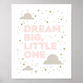 Großer, kleiner Kunst-Traumdruck erröten herein Poster