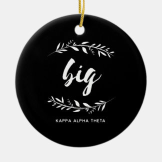 Großer Kranz des Kappa-Alpha Theta-| Keramik Ornament