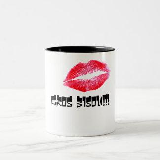 Großer Kuss! Zweifarbige Tasse