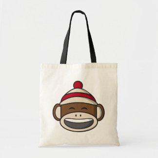 Großer Lächeln-Socken-Affe Emoji Tragetasche