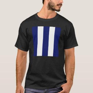 Großer mutiger blauer Streifen T-Shirt
