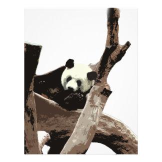 Großer Panda in einer Zoophotographie des wilden 21,6 X 27,9 Cm Flyer