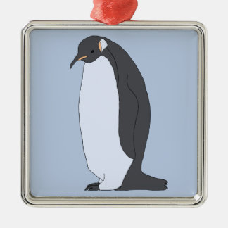Großer Pinguin Silbernes Ornament
