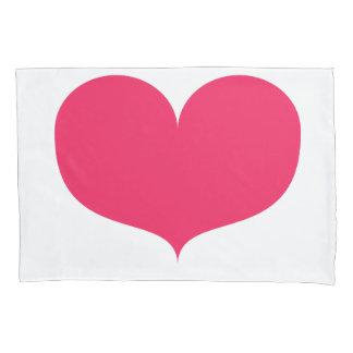 Großer rosa Single-Kissenbezug Herzvalentines Kissenbezug