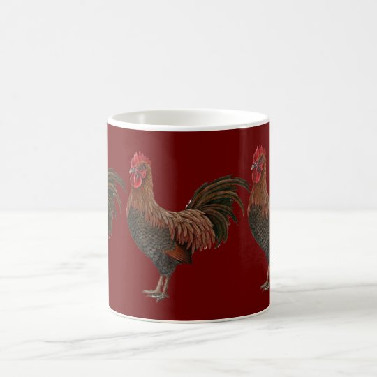 Großer roter Hahn Kaffeetasse