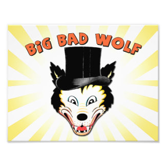 Großer schlechter Wolf-Charakter-Druck Fotodruck