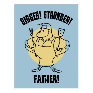 Größer! Stärker! Vater! Postkarte