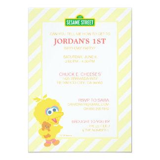 Großer Vogel-Baby-Geburtstag 12,7 X 17,8 Cm Einladungskarte