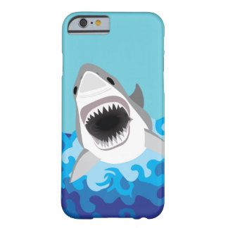 Großer weißer Haifisch-lustiger Cartoon Barely There iPhone 6 Hülle