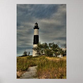 Großer Zobel-Punkt-Leuchtturm Poster
