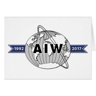 Großes AIW 25. Jahrestags-Logo-12x18 Karte