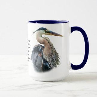 Großes Blau-Reiher-kundengerechte Tasse