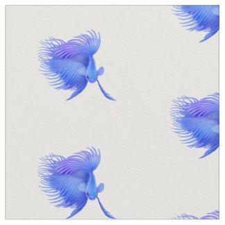 Großes blaues Betta kämpfendes Fisch-Gewebe Stoff