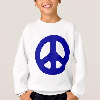 Großes blaues Friedenszeichen Sweatshirt