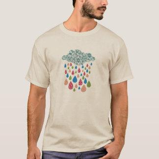 Großes buntes Regen-Shirt T-Shirt