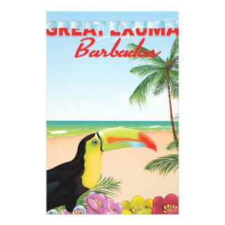 Großes Euxma Barbados Reiseplakat Briefpapier