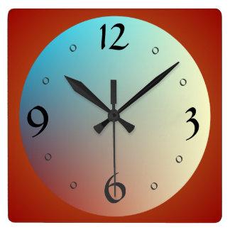 Großes Gesicht mit großen Numbers> Küchen-Uhren Quadratische Wanduhr