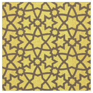 Großes Gold und Schwarzes der Arabeske Stoff