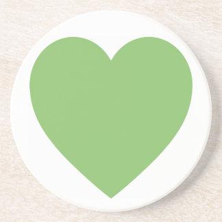 Großes grünes Herz Getränkeuntersetzer