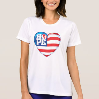 Großes Herz Hopeflag T-shirts