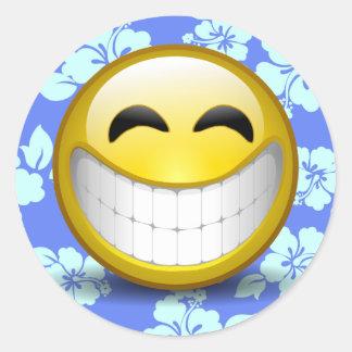 Großes Lächeln Runder Aufkleber