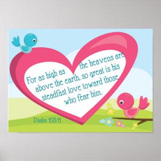 Großes Liebeplakat Psalm-103:11 Gottes Poster
