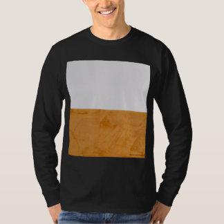 Großes mutiges grafisches Orange u. weiß T-Shirt