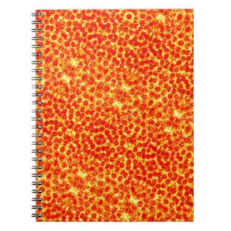 Großes Pizza-Muster Notizblock