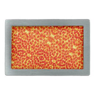 Großes Pizza-Muster Rechteckige Gürtelschnallen