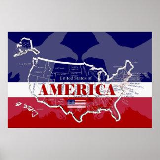 Großes Plakat von USA; irgendeine Größe