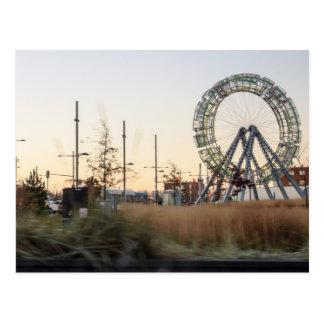 großes Rad Postkarte