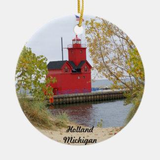 Großes Rot, Holland Michigan Keramik Ornament