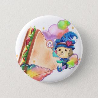 Großes Sandwich - 2 ¼ Zoll-runder Knopf Runder Button 5,1 Cm